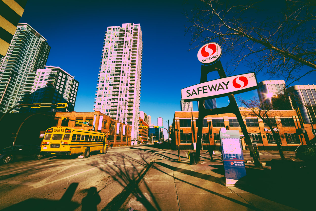 Safeway sign, Beltline, Downtown Calgary