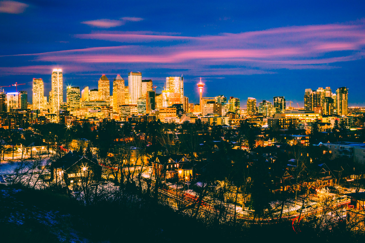 Calgary skyline from Cliff Bungalov